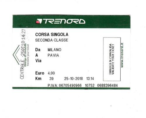 Билет Италия