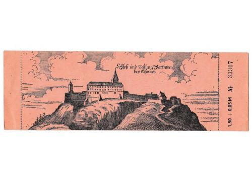 Билет в замок Вартбург, Германия 1985