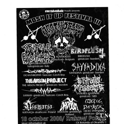 Флаер Рок фестиваль, Death Metal, Grindcore, Польша