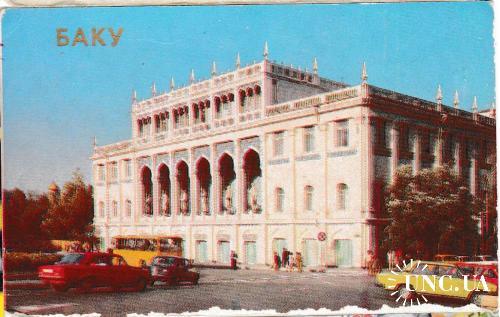 Календарик 1989 Города, Баку, авто