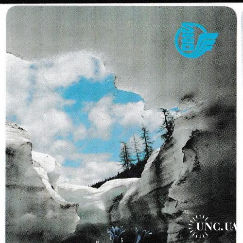 Календарик 1991 Железные дороги, природа, ПЛАСТИК
