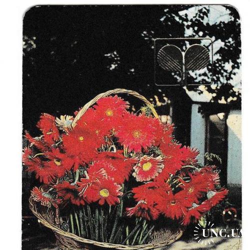 Календарик 1992 Цветы, Литва
