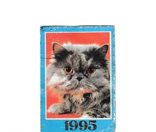 Календарик 1995 Кошка