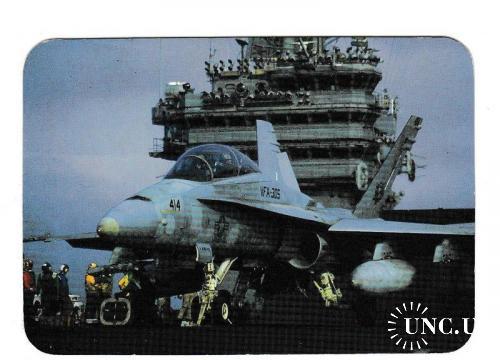 Календарик 1997 Авиация, военная техника, самолёт, авианосец