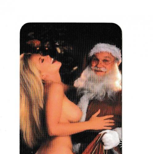 Календарик 1997 Эротика, Санта Клаус