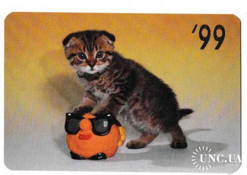 Календарик 1999 Кошка