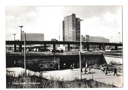 Открытка 1972 Halle / Saale, Hochstrasse, Германия