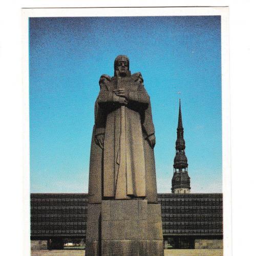 Открытка Латвия, памятник латышским стрелкам