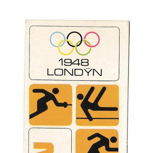 Спортивная карточка, Чехословакия, Олимпийские игры, 1948 Лондон