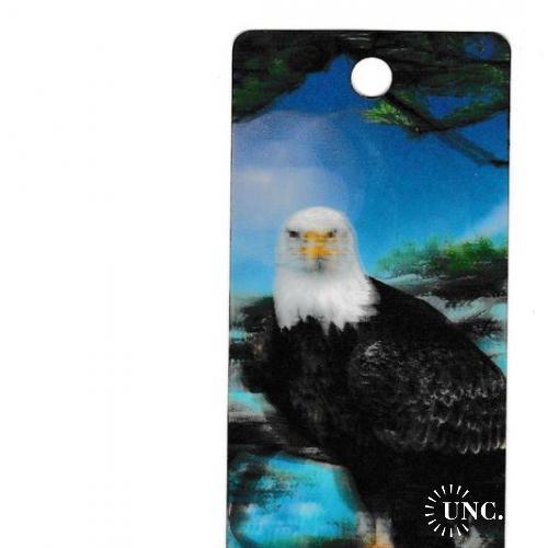 Закладка или мини-открытка, Орёл, Фауна, прим. 80-е - 90-е, СТЕРЕО