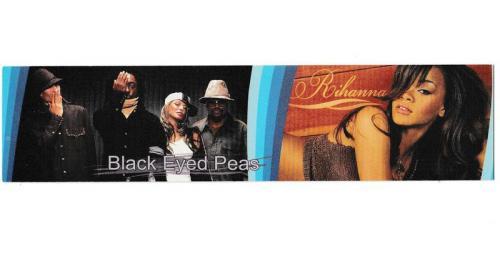 Закладка, таблица умножения, музыка, поп, Rihanna, Black Eyed Peas