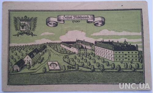 Нотгельд Австрия Muhlheim 50 геллеров