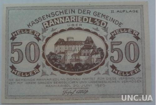 Нотгельд Австрия RANNAREIDL
