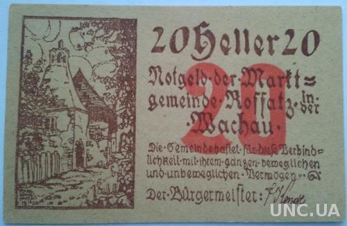 Нотгельд Австрия Roffas im Wochau  20 геллеров