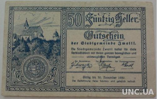 Нотгельд Австрия ZWETTI