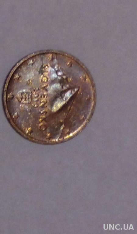 Словакия 2 евро цента 2010