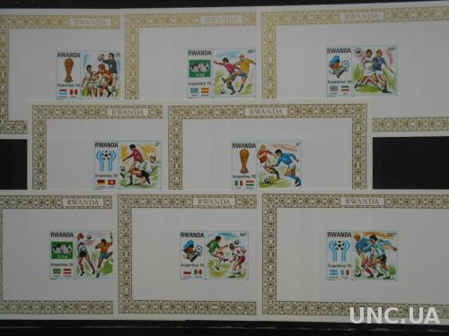 Руанда 1978 Футбол ЧМ Аргентина-1978 чемпионат мира спорт люкс-блоки MNH **