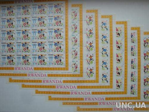 Руанда 1978 Футбол ЧМ Аргентина-1978 чемпионат мира спорт малые листы MNH **