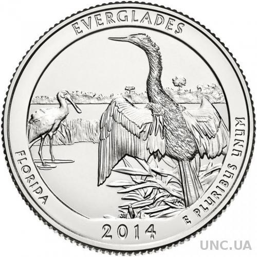 25 центов Флорида парк Эверглейдс  2014 г. из ролла