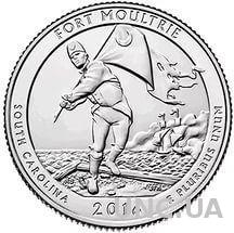 25 центов США парки Каролина Fort Moutrie 2016 г.