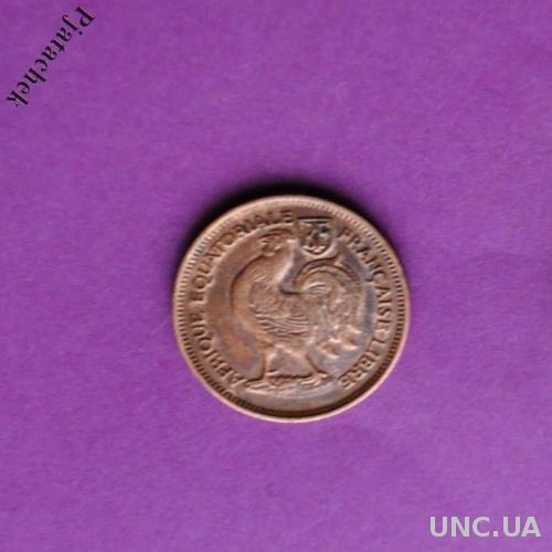 Мадагаскар 50 сантим 50 сантимов пол франка  1943 г.