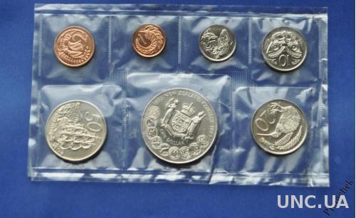 Новая Зеландия набор 1983 г. 1,2 , 5, 10, 20, 50 центов, 1 доллар 1983 г.  в запайке UNC