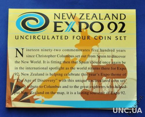 Новая Зеландия набор 5 долларов 1992 г век открытий UNC № 2 редкость RARE