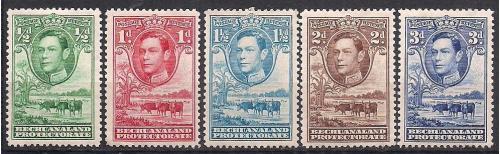 БРИТ. КОЛОНИИ BECHUANALAND 1938 ФАУНА MH