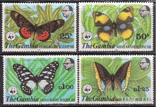 БРИТ. КОЛОНИИ GAMBIA 1980 ФАУНА MNH 100 ЕВРО