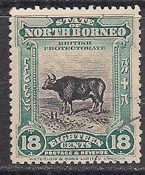 БРИТ. КОЛОНИИ NORTH BORNEO  1909  50 ЕВРО