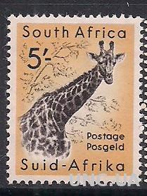 БРИТ. КОЛОНИИ SOUTH AFRICA 1954 ФАУНА MLH 14 ЕВРО