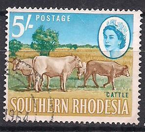 SOUTHERN RHODESIA ФАУНА 1964 5.5 ЕВРО