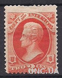 США ОФИЦИАЛ INTERIOR 1873 MH 70$