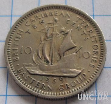 Британские Карибы 10 центов - 1959 (51)