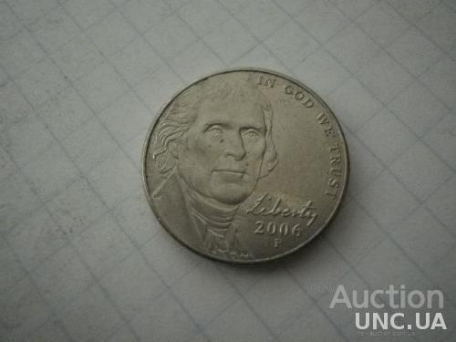 США 2006 рiк (P) 5 центів.