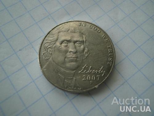 США 2007 рiк (Р) 5 центів.