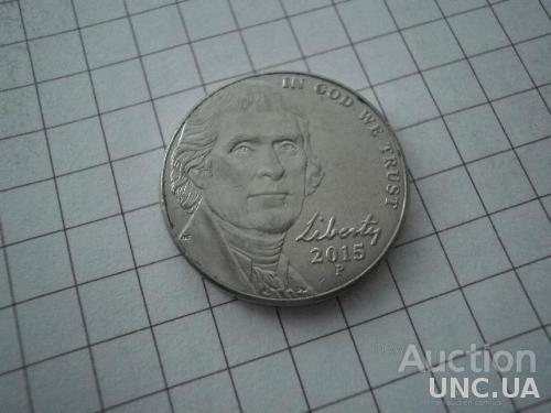 США 2015 рiк (Р) 5 центів.