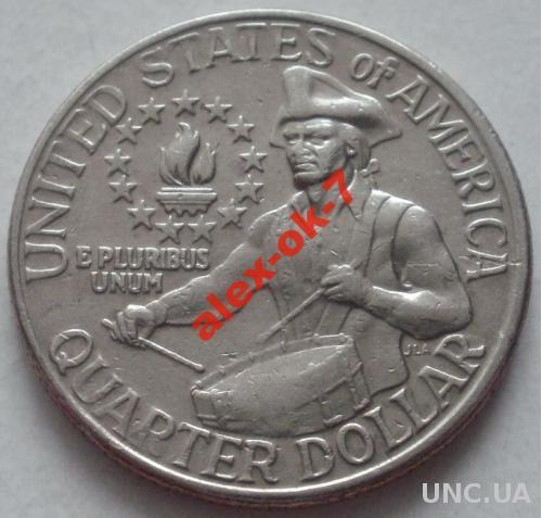 США 25 центов - Барабанщик (1976г.)