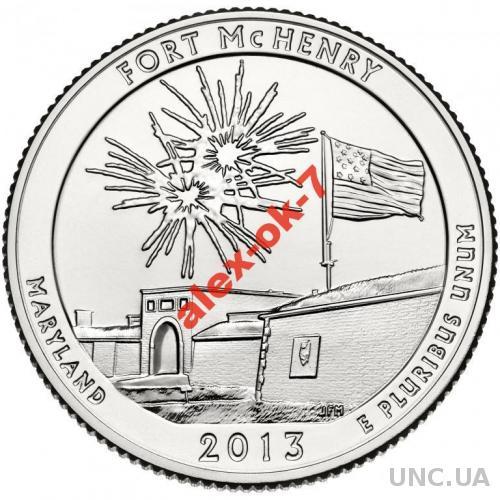 США 25 центов Форт Мак-Генри - 19-й парк