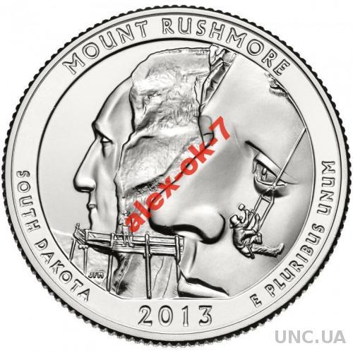 США 25 центов Гора Рашмор - Rushmore - 20-й парк