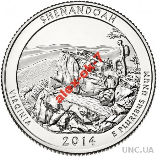 США 25 центов Шенандоа (2014г.) - 22-й парк!
