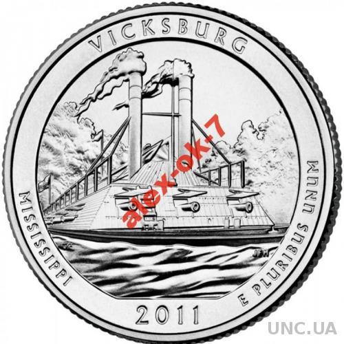 США 25 центов Виксбург - Vicksburg - 9-й парк