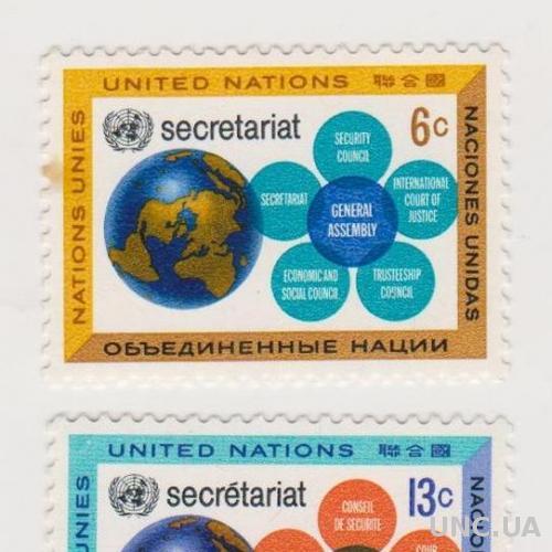 1968 ООН № 196-197 (Mi) *