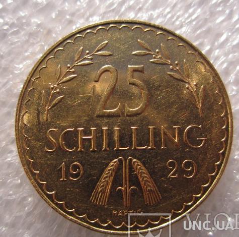 25 шиллингов 1929 года Австрия