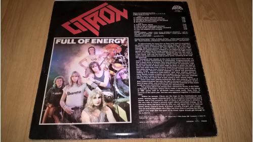 Citron (Full Of Energy) 1987. (LP). 12. Vinyl. Пластинка. Czechoslovakia. ЕХ+/ЕХ+