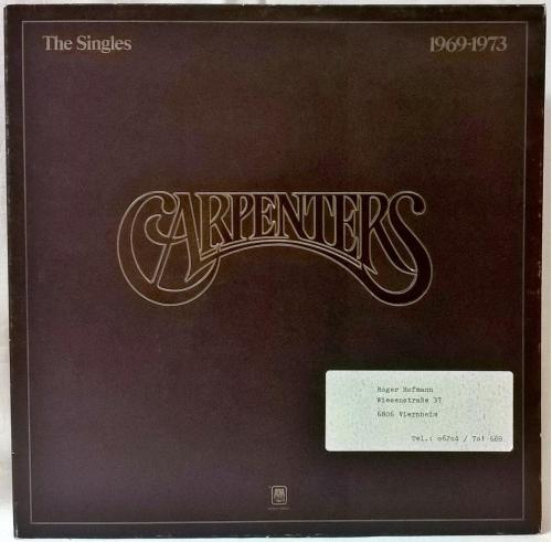 The Carpenters (The Singles) 1969-73. (LP). 12. Vinyl. Пластинки. Holland.