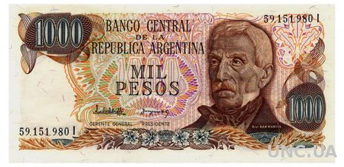 АРГЕНТИНА 304d ARGENTINA 1000 PESOS 1977 Unc