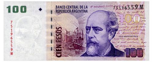 АРГЕНТИНА 357 ARGENTINA M 100 PESOS ND(2010) Unc