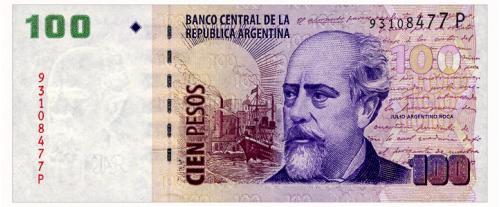 АРГЕНТИНА 357 ARGENTINA P 100 PESOS ND(2012) Unc