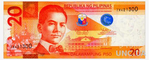 ФИЛИППИНЫ 206 PHILIPPINES 20 PISO 2014 Unc